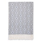 Petunia Pickle Bottom® Southwest Skies Fringed Blanket in Grey/Blue