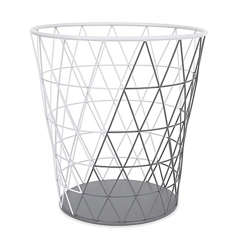 image of Petunia Pickle Bottom® Southwest Skies Wire Hamper in Grey/White