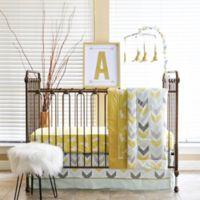 Pam Grace Creations Honeydew Kangaroo 6-Piece Crib Bedding Set in Gold