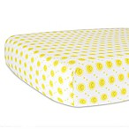 Hello Spud Organic Cotton Jersey Sunshine Fitted Crib Sheet in Yellow