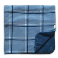 Hello Spud Plaid Picnic Blanket in Blue