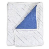 Hello Spud Diagonal Pintuck Quilt in Blue