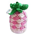 Hello Spud Pineapple Plush Rattle Toy in Pink