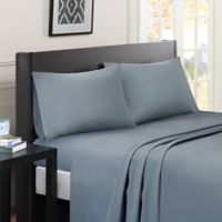 Madison Park Essentials Micro Splendor King Sheet Set in Blue