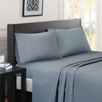 Madison Park Essentials Micro Splendor King Sheet Set in Blue