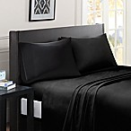 Madison Park Essentials Micro Splendor Queen Size Sheet Set in Black