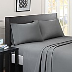 Madison Park Essentials Micro Splendor Queen Sheet Set in Grey