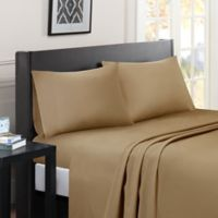 Madison Park Essentials Micro Splendor Queen Sheet Set in Khaki