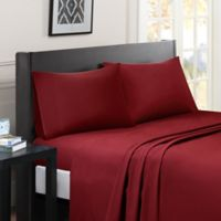 Madison Park Essentials Micro Splendor Queen Sheet Set in Red