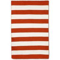 Liorra Manne Sorrento Rugby Stripe 5-Foot x 7-Foot 6-Inch Indoor/Outdoor Area Rug in Paprika