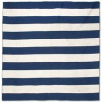 Liorra Manne Sorrento Rugby Stripe 8-Foot Square Indoor/Outdoor Rug in Navy