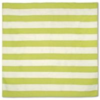 Liorra Manne Sorrento Rugby Stripe 8-Foot Square Indoor/Outdoor Area Rug in Lime