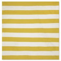 Liorra Manne Sorrento Rugby Stripe 8-Foot Square Indoor/Outdoor Area Rug in Yellow