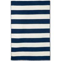 Liorra Manne Sorrento Rugby Stripe 8-Foot 3-Inch x 11-Foot 6-Inch Indoor/Outdoor Rug in Navy