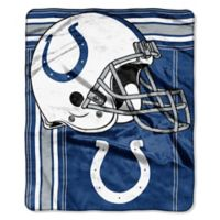 NFL Indianapolis Colts Royal Plush Raschel Throw