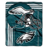 NFL Philadelphia Eagles Royal Plush Raschel Throw