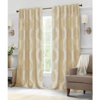 Hillston 63-Inch Lined Back Tab Window Curtain Panel Pair in Natural