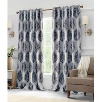 Hillston 63-Inch Lined Back Tab Window Curtain Panel Pair in Ink
