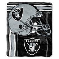 NFL Oakland Raiders Royal Plush Raschel Throw
