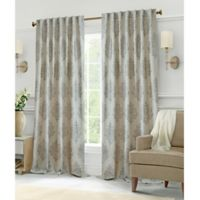 Hillston 63-Inch Lined Back Tab Window Curtain Panel Pair in Grey