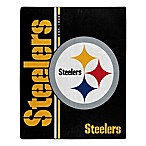 NFL Pittsburgh Steelers Royal Plush Raschel Throw