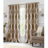 Hillston 63-Inch Lined Back Tab Window Curtain Panel Pair in Latte