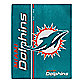 NFL Miami Dolphins Royal Plush Raschel Throw