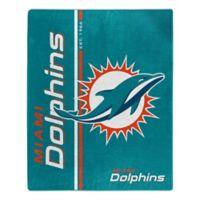 NFL Miami Dolphins Royal Plush Raschel Throw
