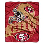NFL San Francisco 49ers Royal Plush Raschel Throw