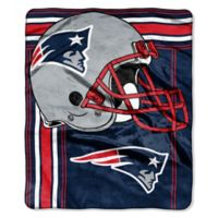 NFL New England Patriots Royal Plush Raschel Throw