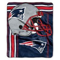 NFL New England Patriots Royal Plush Raschel Throw