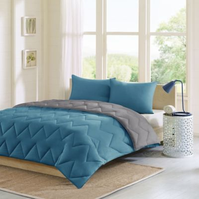 intelligent design trixie 3piece king comforter set in teal