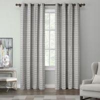 Tyler 108-Inch Grommet Top Window Curtain Panel in Silver
