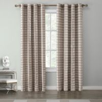 Tyler 84-Inch Grommet Top Window Curtain Panel in Khaki