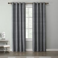Tyler 84-Inch Grommet Top Window Curtain Panel in Charcoal