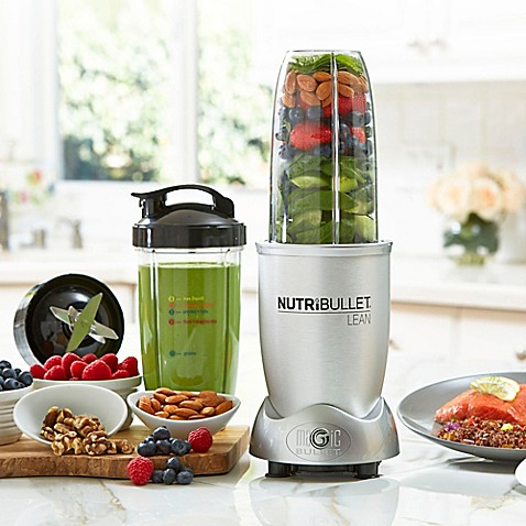nutribullet lean™ 32 oz. multi-function blender in silver - bed