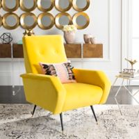 Safavieh Aida Accent Chair in Yellow