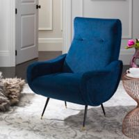 Safavieh Elicia Accent Chair in Navy