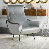 Safavieh Elicia Accent Chair in Light Grey