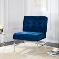 Safavieh Ansel Accent Chair in Navy