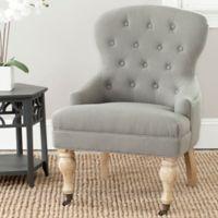Safavieh Falcon Tufted Arm Chair in Granite