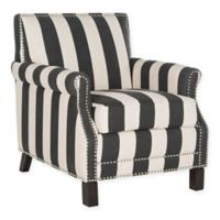 Safavieh Arm Chair in Black/White