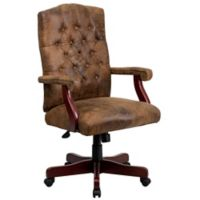 Flash Furniture Classic Executive Swivel Office Chair in Bomber Brown