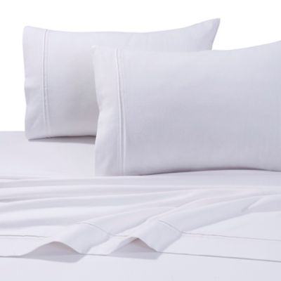 tribeca living 230 gsm twill weave solid flannel queen sheet set in white - Flannel Sheets Queen