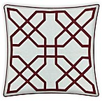Asher Raised Embroidered 20-Inch Square Throw Pillow in Red