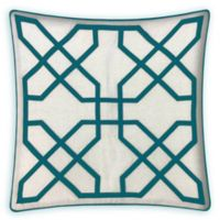 Asher Raised Embroidered 20-Inch Square Throw Pillow in Spa Blue