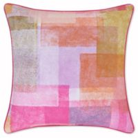 J by J. Queen New York Block Party 20-Inch Square Throw Pillow in Pink