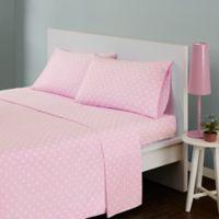 Mi Zone Polka Dot Full Sheet Set in Pink