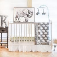 Pam Grace Creations Indie Elephant 6-Piece Crib Bedding Set in Mint