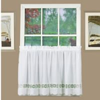Caylee 36-Inch Kitchen Window Curtain Tier Pair in White
